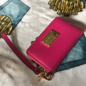 NWOT Michael kors wallet bright pink